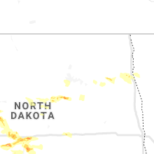 Regional Hail Map for Devils Lake, ND - Tuesday, August 6, 2019