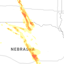 Regional Hail Map for Oneill, NE - Tuesday, August 6, 2019