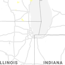Regional Hail Map for Chicago, IL - Wednesday, August 7, 2019