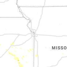 Hail Map for kansas-city-mo 2019-08-07