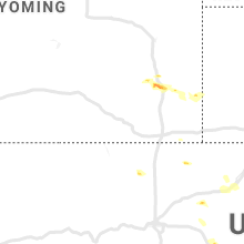 Regional Hail Map for Laramie, WY - Wednesday, August 7, 2019