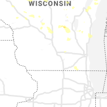 Regional Hail Map for Madison, WI - Wednesday, August 7, 2019