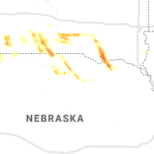 Regional Hail Map for Oneill, NE - Wednesday, August 7, 2019