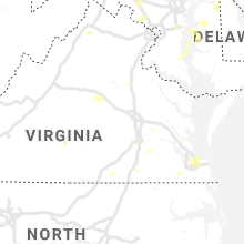 Regional Hail Map for Richmond, VA - Wednesday, August 7, 2019