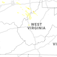Regional Hail Map for Charleston, WV - Thursday, August 8, 2019