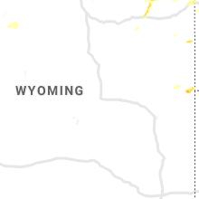 Regional Hail Map for Casper, WY - Saturday, August 10, 2019