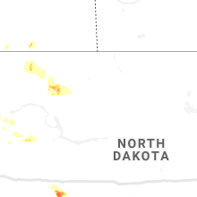 Regional Hail Map for Minot, ND - Saturday, August 10, 2019
