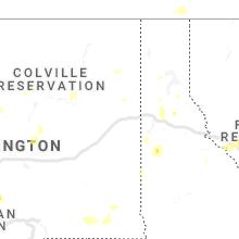 Regional Hail Map for Spokane, WA - Saturday, August 10, 2019