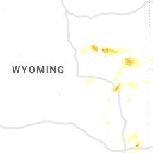 Regional Hail Map for Casper, WY - Sunday, August 11, 2019