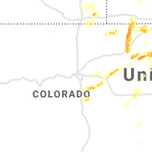 Regional Hail Map for Denver, CO - Sunday, August 11, 2019