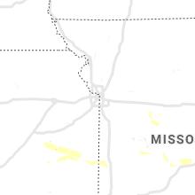 Hail Map for kansas-city-mo 2019-08-12