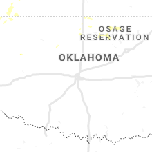 Regional Hail Map for Oklahoma City, OK - Monday, August 12, 2019