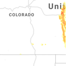Regional Hail Map for Pueblo, CO - Wednesday, August 14, 2019