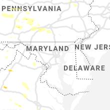 Regional Hail Map for Baltimore, MD - Thursday, August 15, 2019