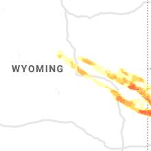 Regional Hail Map for Casper, WY - Thursday, August 15, 2019