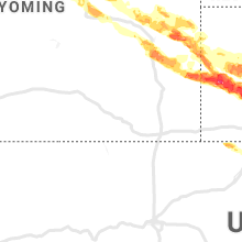 Regional Hail Map for Laramie, WY - Thursday, August 15, 2019