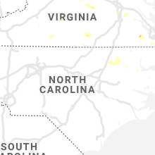 Regional Hail Map for Raleigh, NC - Thursday, August 15, 2019