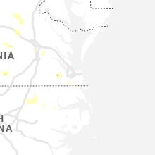 Regional Hail Map for Virginia Beach, VA - Thursday, August 15, 2019