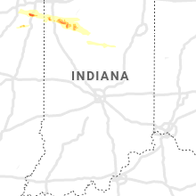 Regional Hail Map for Indianapolis, IN - Friday, August 16, 2019