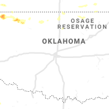 Regional Hail Map for Oklahoma City, OK - Friday, August 16, 2019