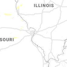 Regional Hail Map for Saint Louis, MO - Friday, August 16, 2019