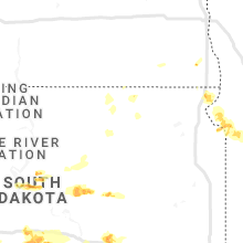 Regional Hail Map for Aberdeen, SD - Saturday, August 17, 2019