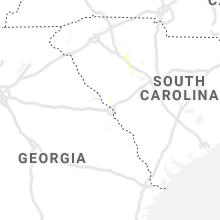 Regional Hail Map for Augusta, GA - Saturday, August 17, 2019