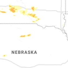 Regional Hail Map for Oneill, NE - Saturday, August 17, 2019