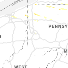 Regional Hail Map for Pittsburgh, PA - Saturday, August 17, 2019