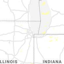 Regional Hail Map for Chicago, IL - Sunday, August 18, 2019