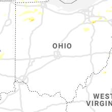 Regional Hail Map for Columbus, OH - Sunday, August 18, 2019