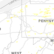 Regional Hail Map for Pittsburgh, PA - Sunday, August 18, 2019