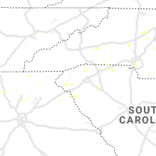 Regional Hail Map for Greenville, SC - Monday, August 19, 2019