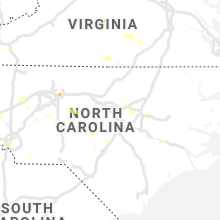 Regional Hail Map for Raleigh, NC - Monday, August 19, 2019