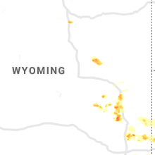 Regional Hail Map for Casper, WY - Tuesday, August 20, 2019