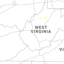 Regional Hail Map for Charleston, WV - Tuesday, August 20, 2019