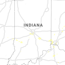 Regional Hail Map for Indianapolis, IN - Tuesday, August 20, 2019