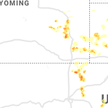 Regional Hail Map for Laramie, WY - Tuesday, August 20, 2019