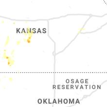 Regional Hail Map for Wichita, KS - Tuesday, August 20, 2019