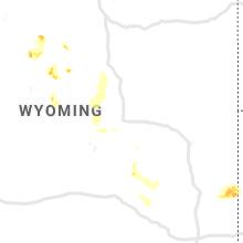 Regional Hail Map for Casper, WY - Wednesday, August 21, 2019