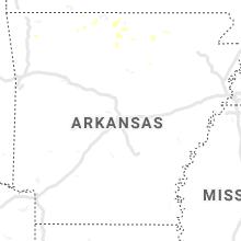 Regional Hail Map for Little Rock, AR - Wednesday, August 21, 2019