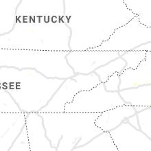 Regional Hail Map for Knoxville, TN - Thursday, August 22, 2019