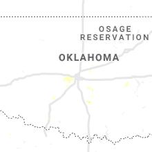 Regional Hail Map for Oklahoma City, OK - Thursday, August 22, 2019