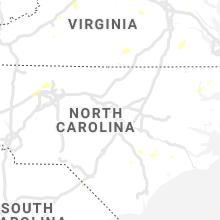 Regional Hail Map for Raleigh, NC - Thursday, August 22, 2019