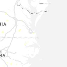 Regional Hail Map for Virginia Beach, VA - Thursday, August 22, 2019