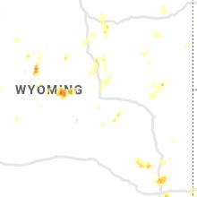 Regional Hail Map for Casper, WY - Friday, August 23, 2019