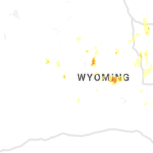 Regional Hail Map for Riverton, WY - Friday, August 23, 2019