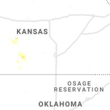 Regional Hail Map for Wichita, KS - Friday, August 23, 2019