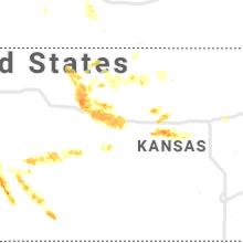 Regional Hail Map for Hays, KS - Saturday, August 24, 2019