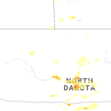 Regional Hail Map for Minot, ND - Sunday, August 25, 2019